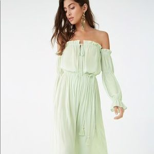 Dresses & Skirts - Off the shoulder maxi long summer dress in black